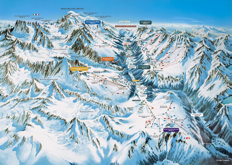 piste map Chamonix