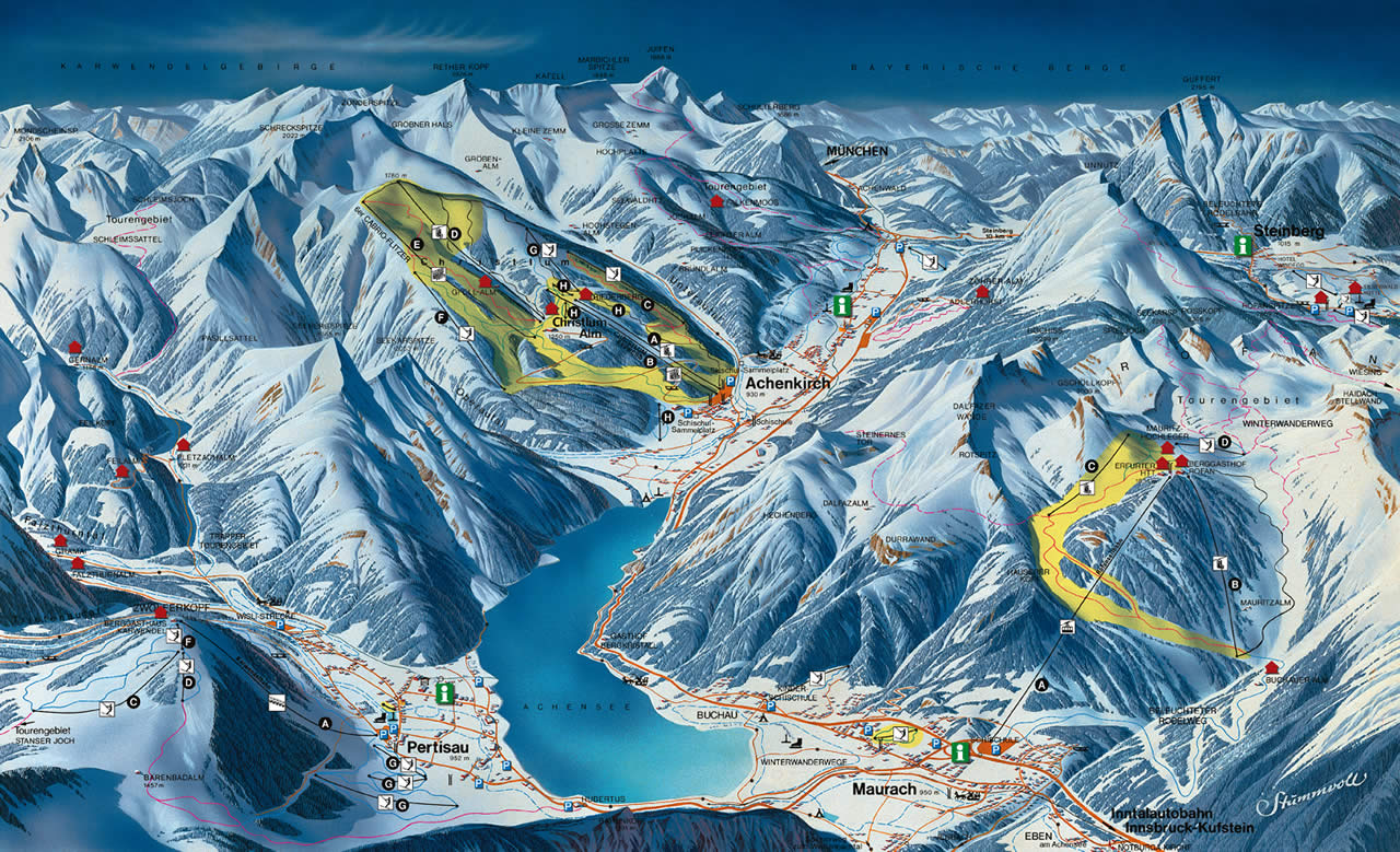 Achenkirch piste map