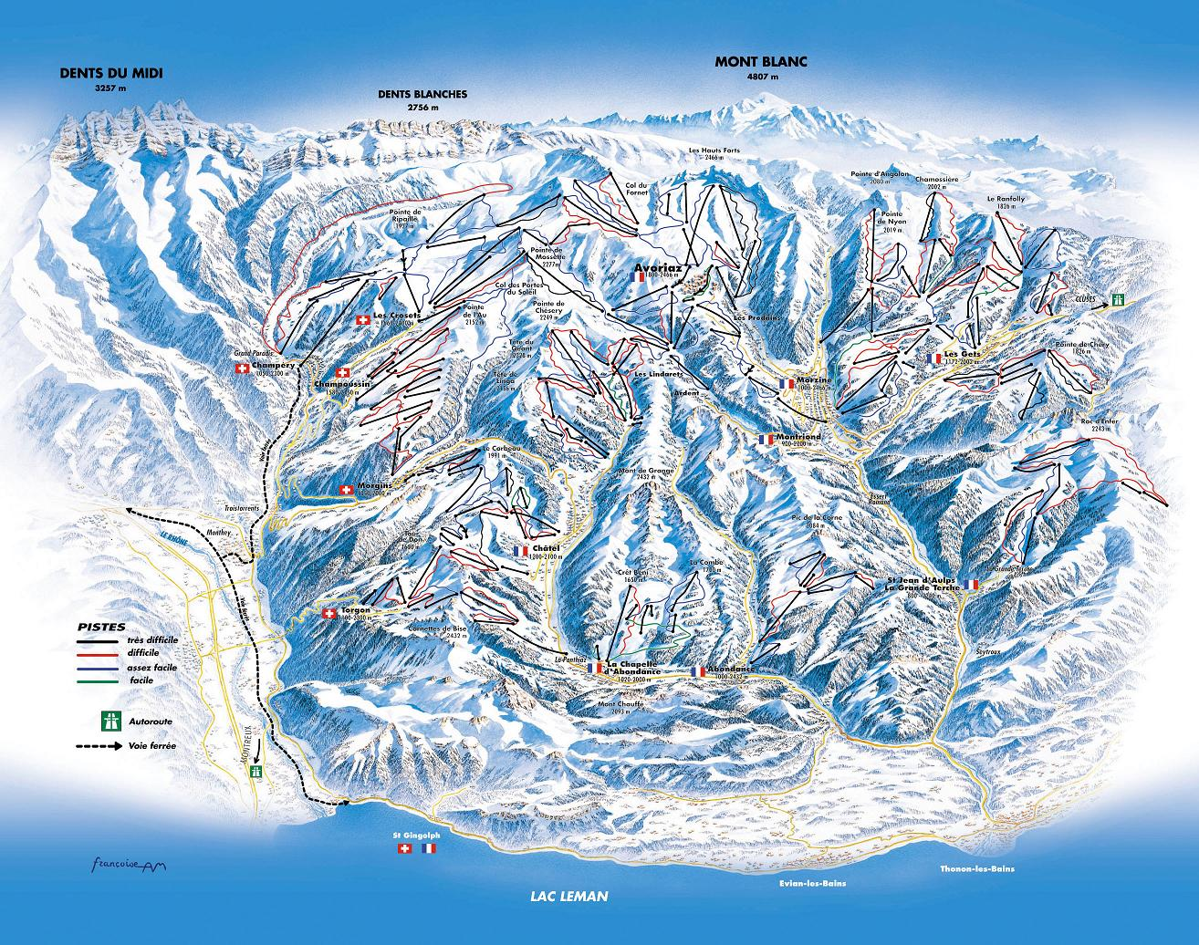 piste map Avoriaz