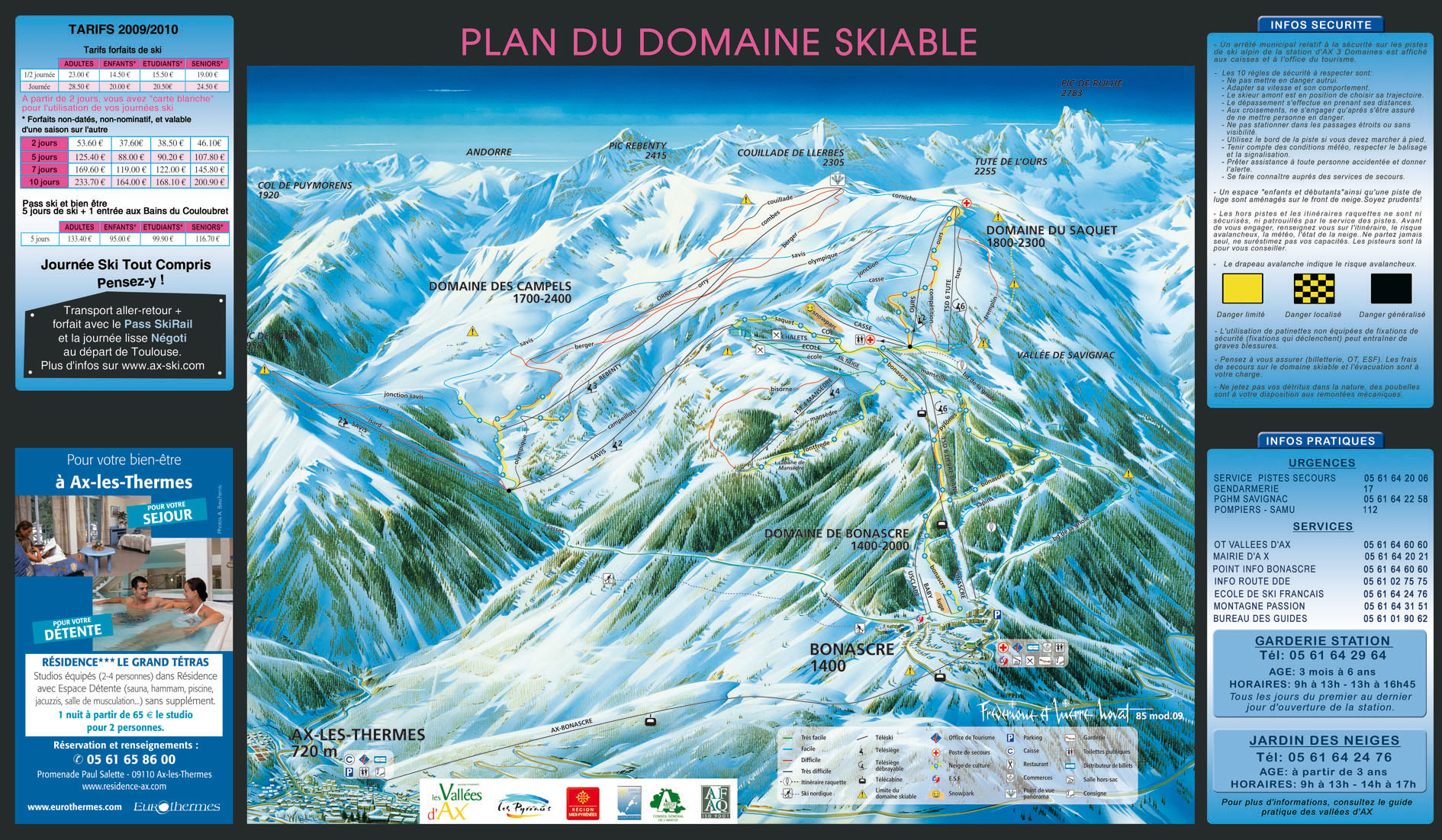 Ax les Thermes piste map