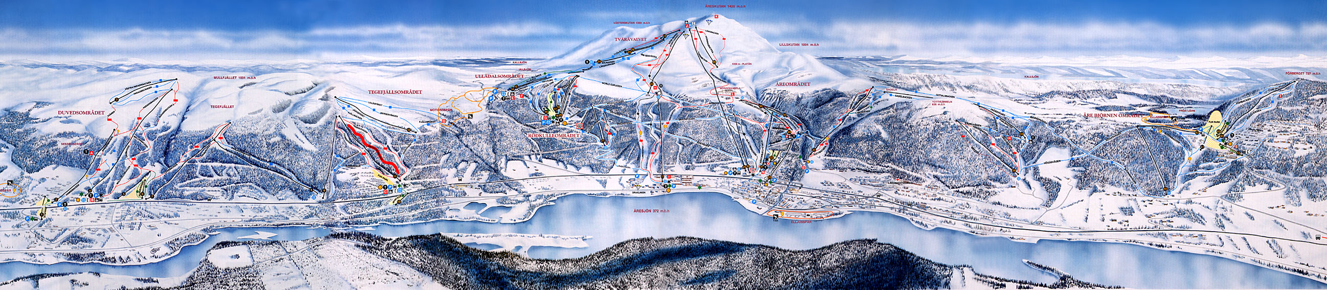 Are - Duved piste map