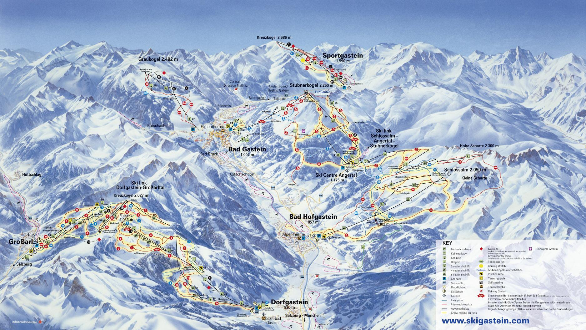 piste map Bad Gastein