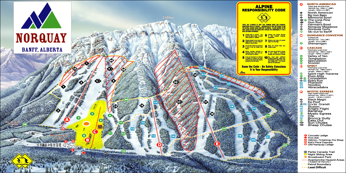 piste map Banff
