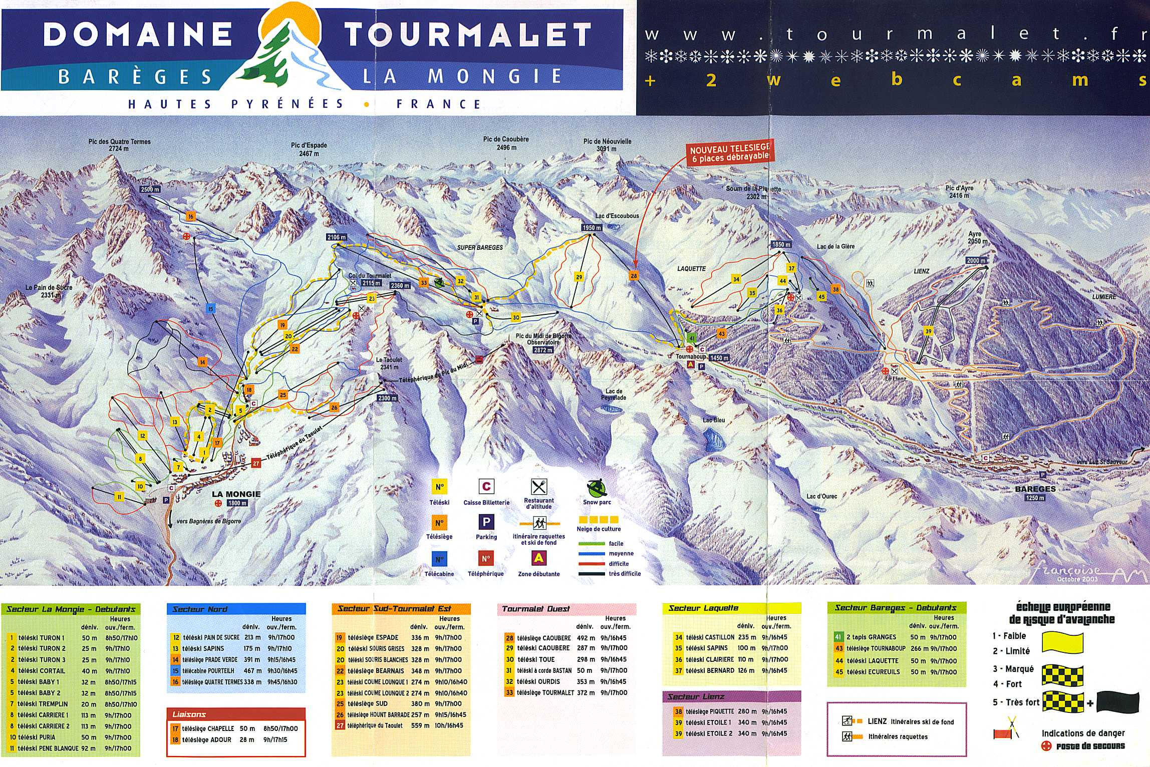 Bareges piste map