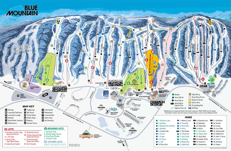 whistler ski runs map with Piste Map Blue Mountain Ski Maps on 56 110279 17269684 Wlochy  Slowacja  USA   najciekawsze osrodki narciarskie in addition Mont Tremblant map slopes besides Monashee Mountain Cats further Skiing further Piste Map Blue Mountain Ski Maps.