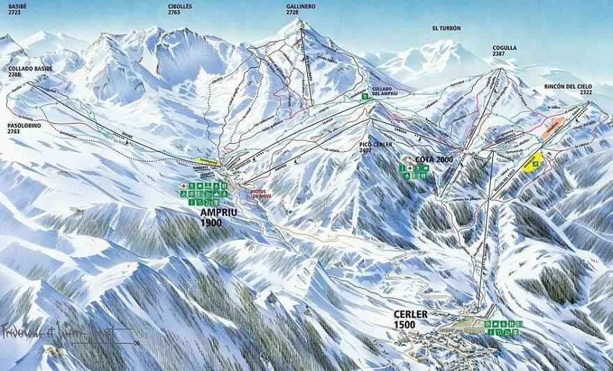 Cerler piste map
