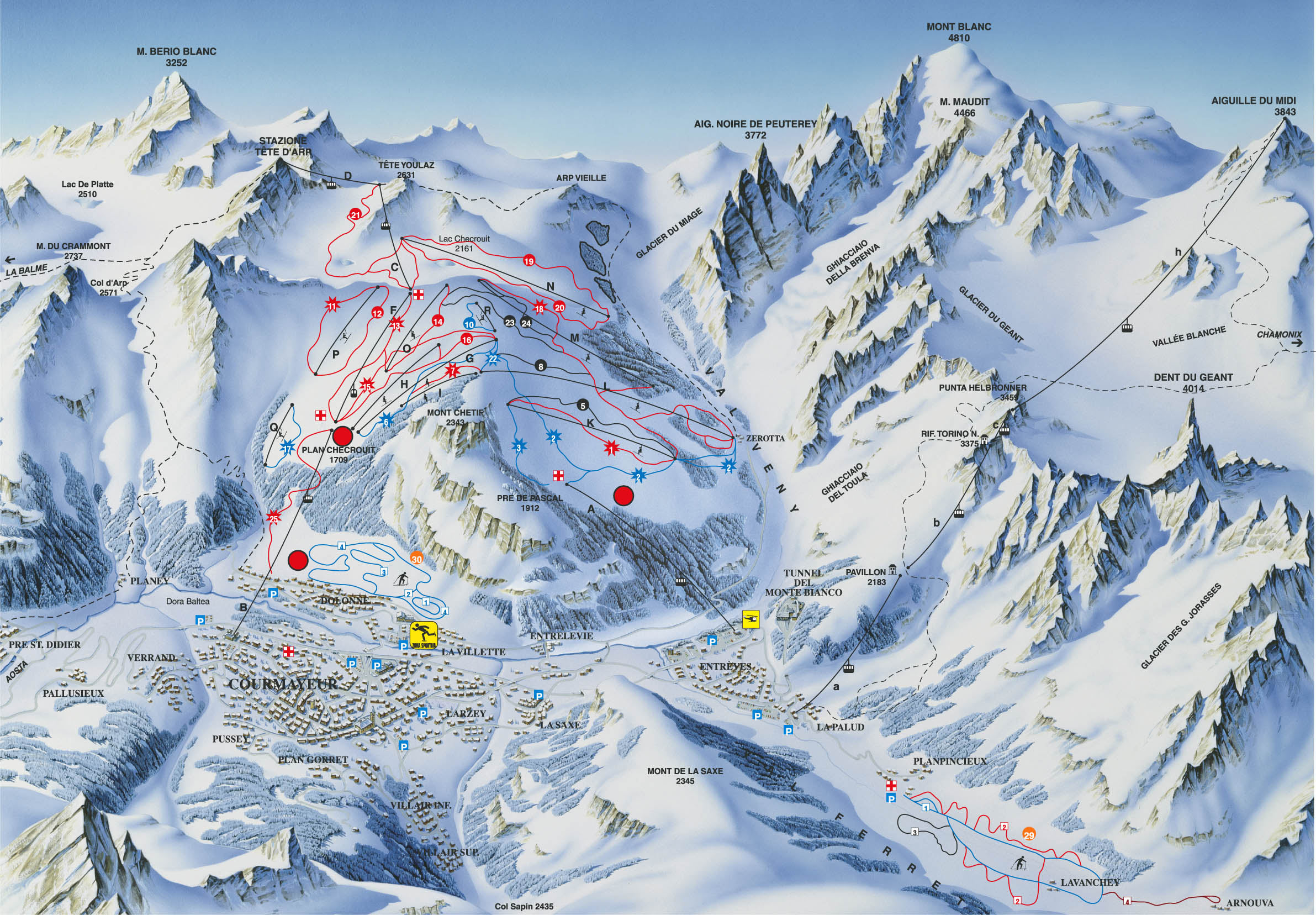 piste map Courmayeur