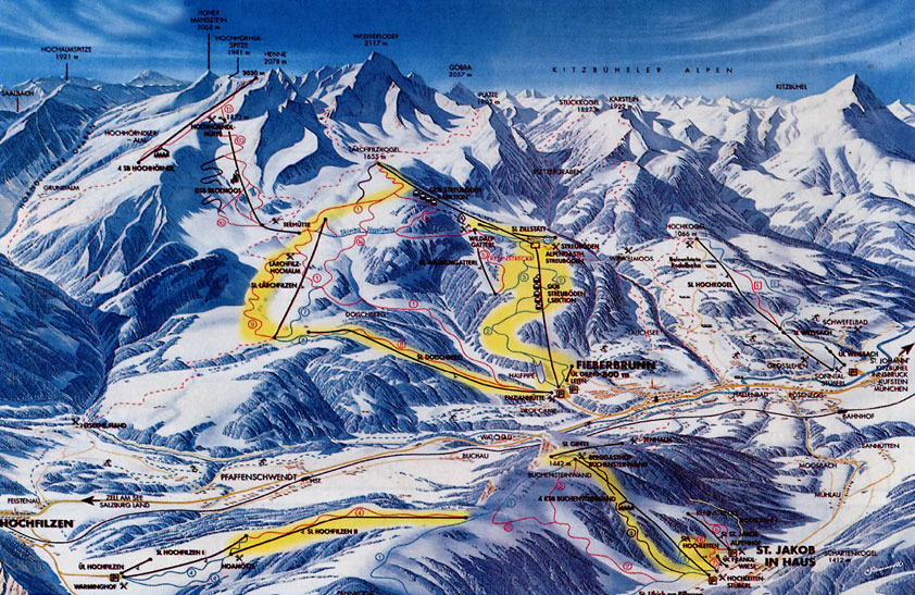 piste map Fieberbrunn
