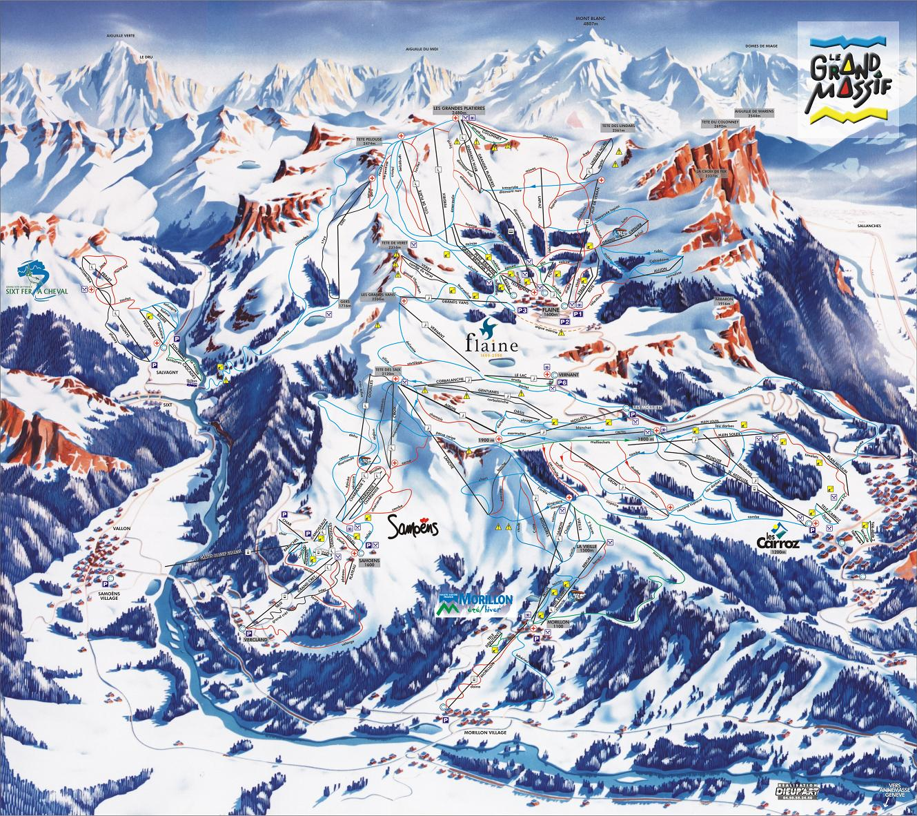piste map Flaine