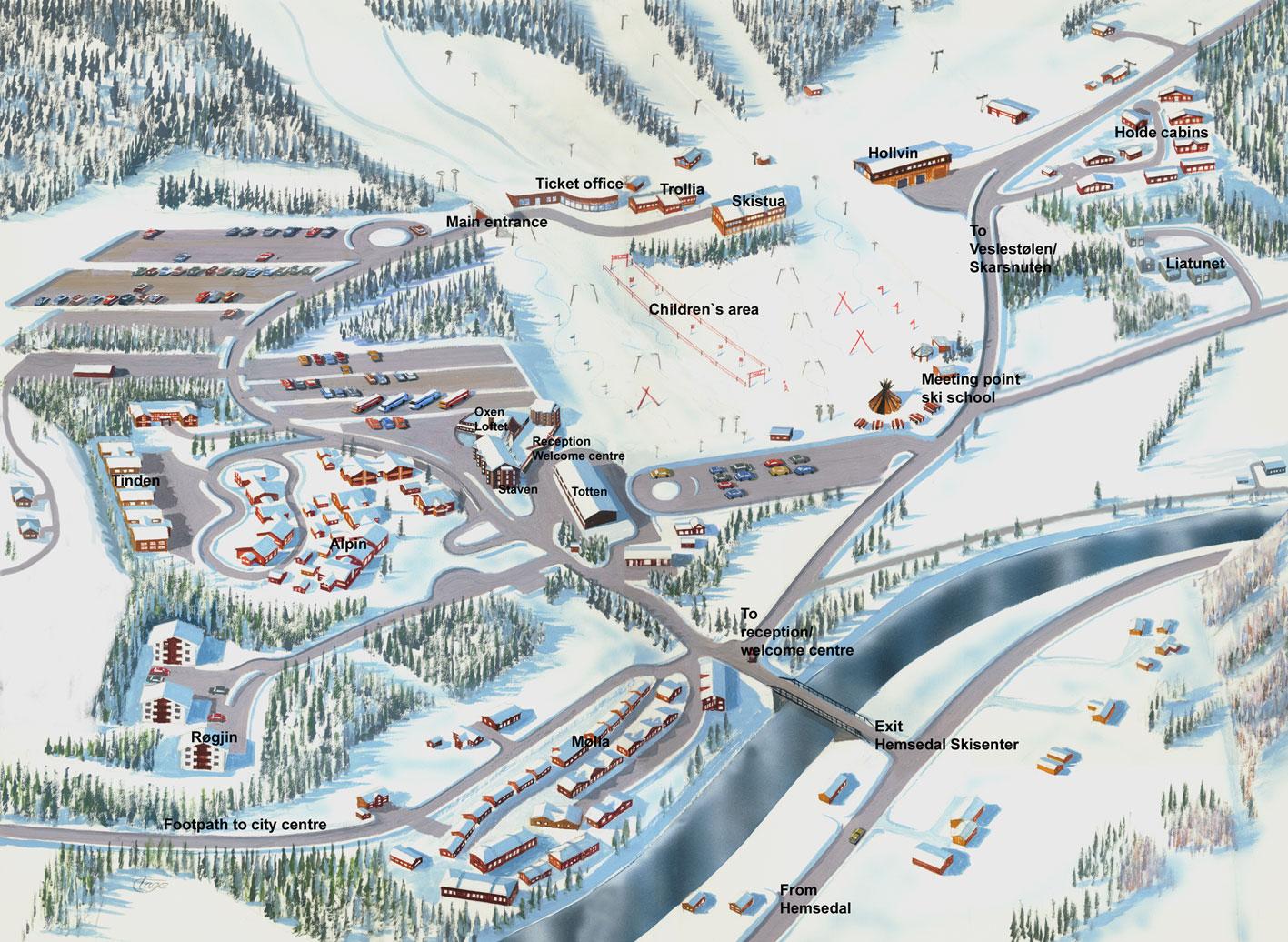 Maps Of Hemsedal Ski Resort In Norway Sno