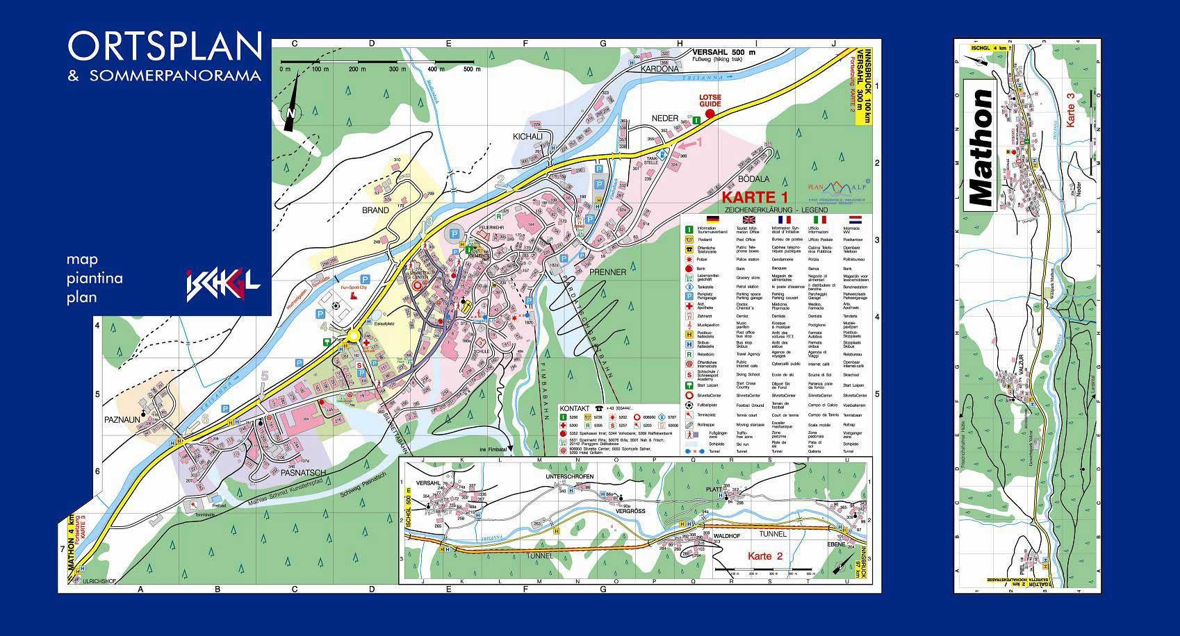 Maps Of Ischgl Ski Resort In Austria Sno