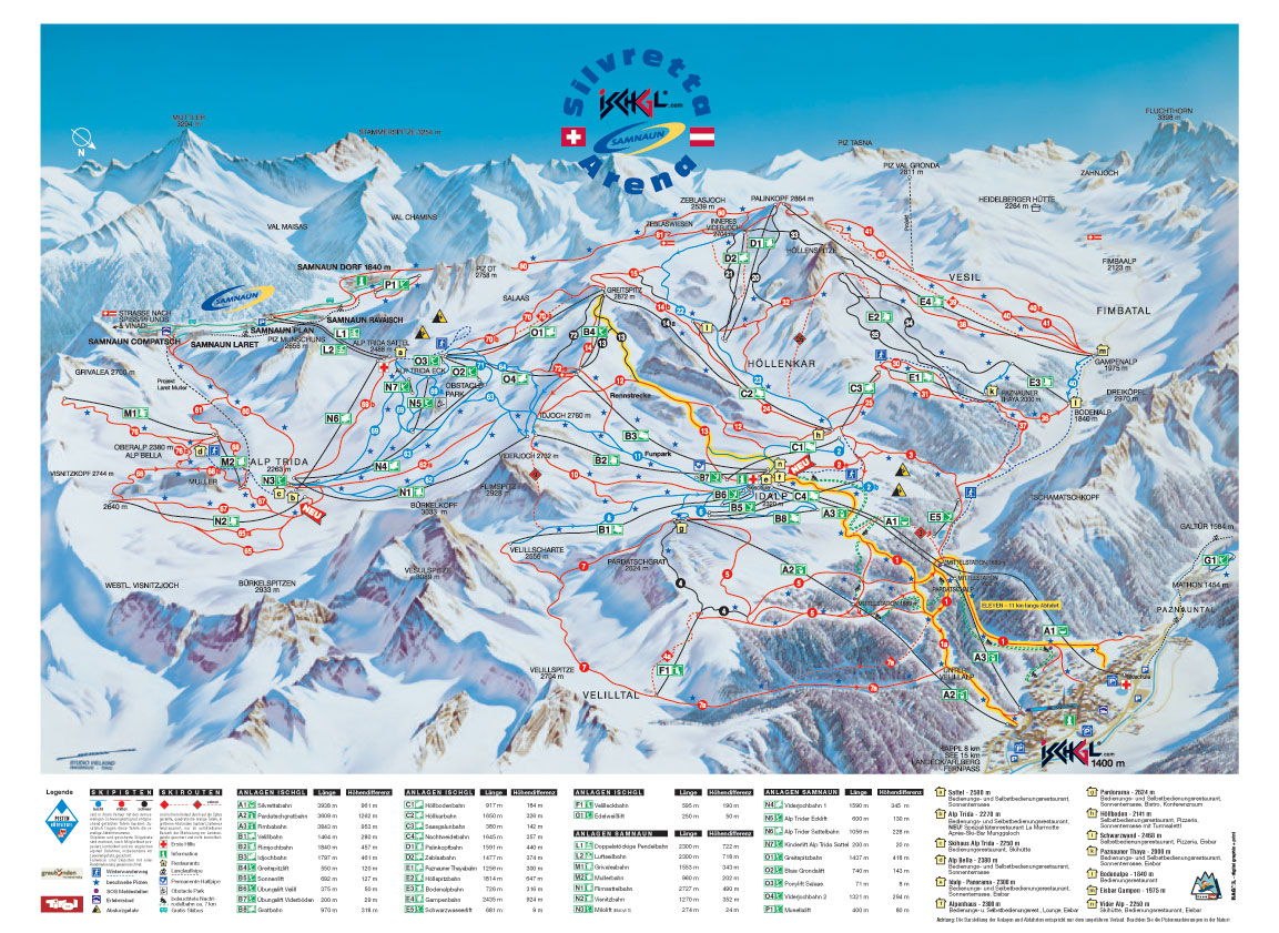 piste map Ischgl