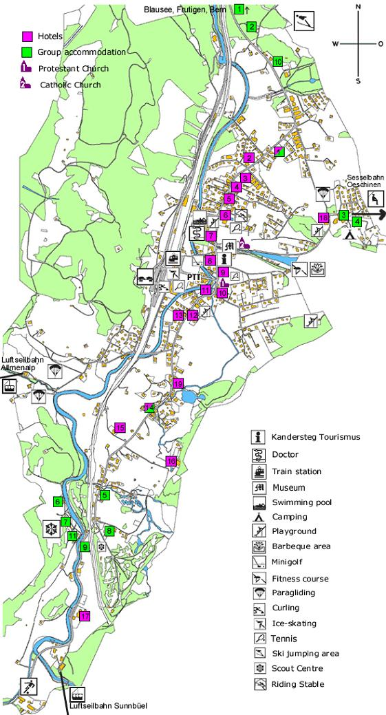 Maps Of Kandersteg Ski Resort In Switzerland Sno