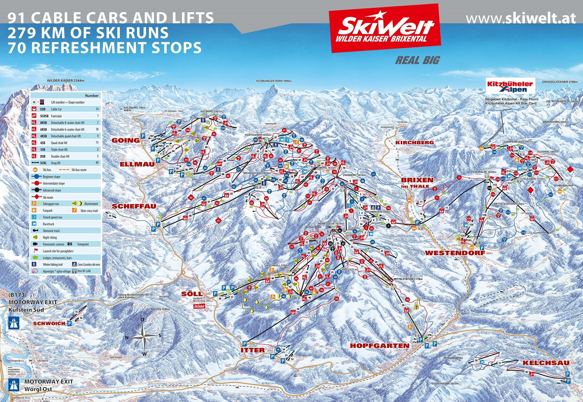 Kirchberg piste map