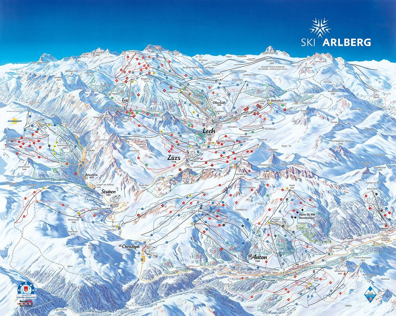 piste map Lech