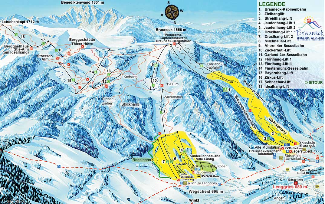 Lenggries piste map