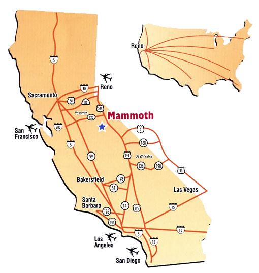 Maps Of Mammoth Mountain Ski Resort In Usa Sno