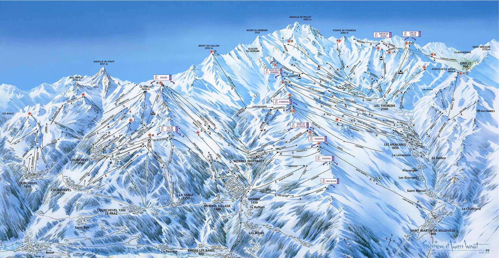 piste map Meribel & Mottaret
