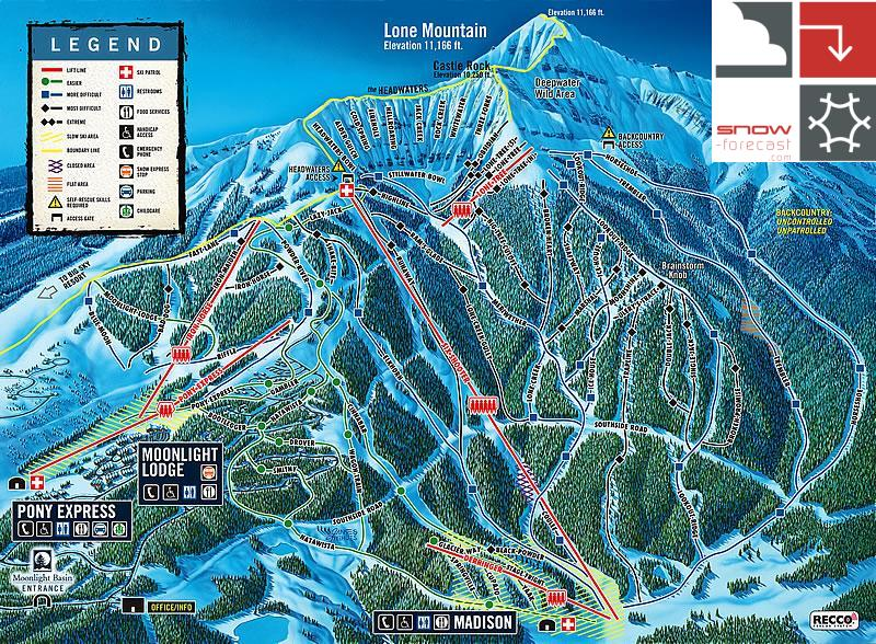 Moonlight Basin piste map