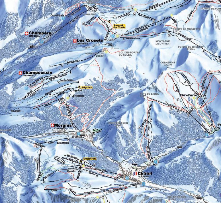 Morgins Champoussin piste map