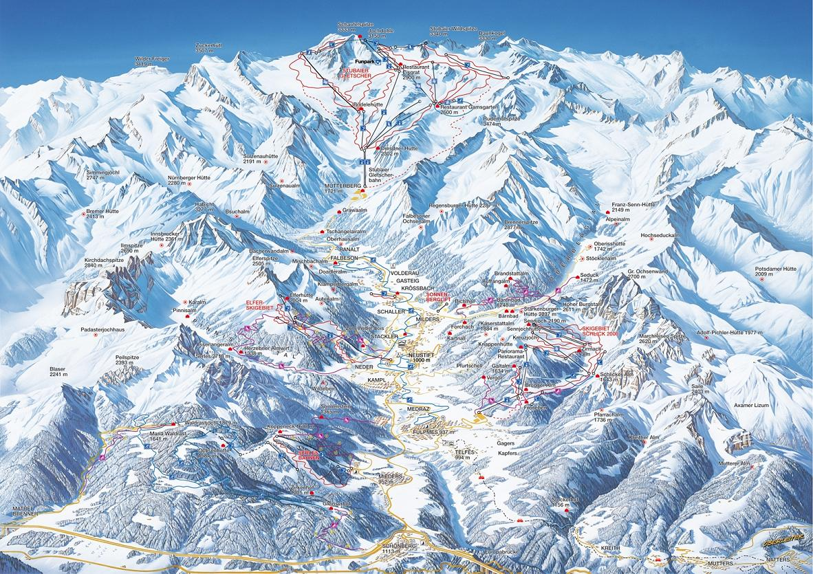piste map Neustift