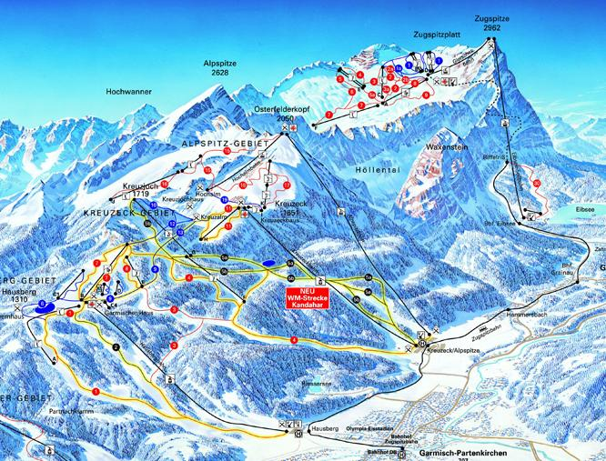 Garmisch Partenkirchen piste map