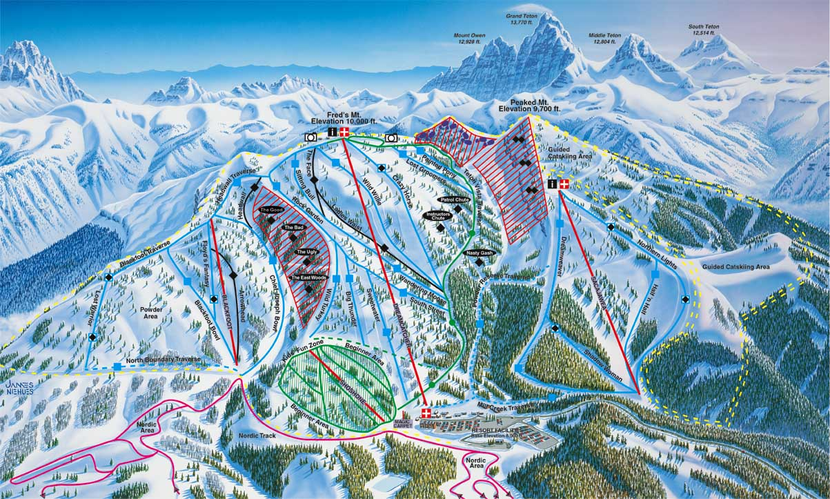 Grand Targhee piste map