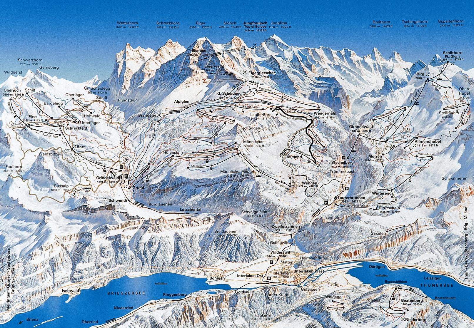 Grindelwald piste map