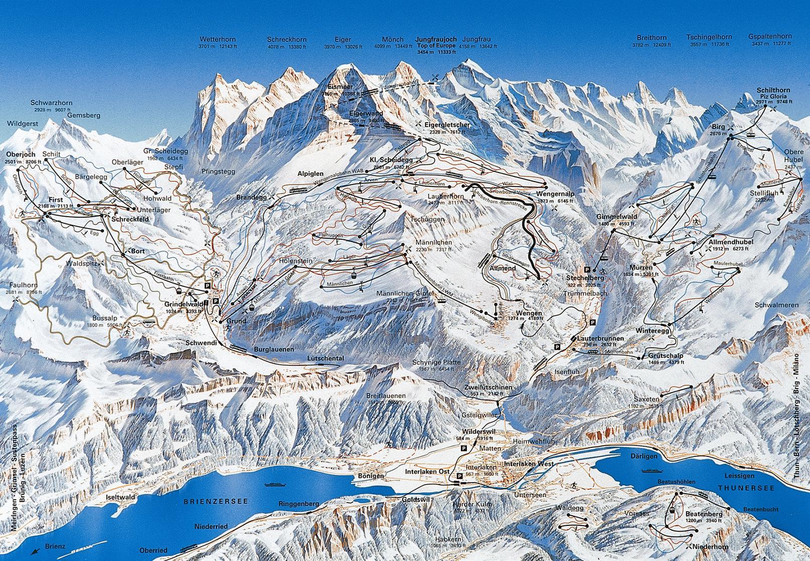 piste map Grindelwald