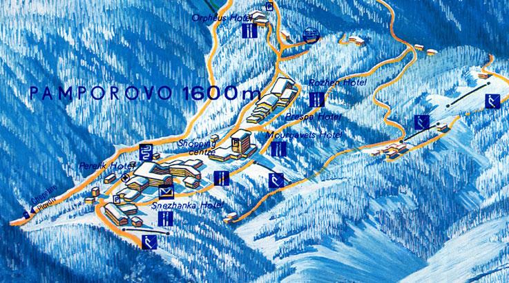 Maps Of Pamporovo Ski Resort In Bulgaria Sno