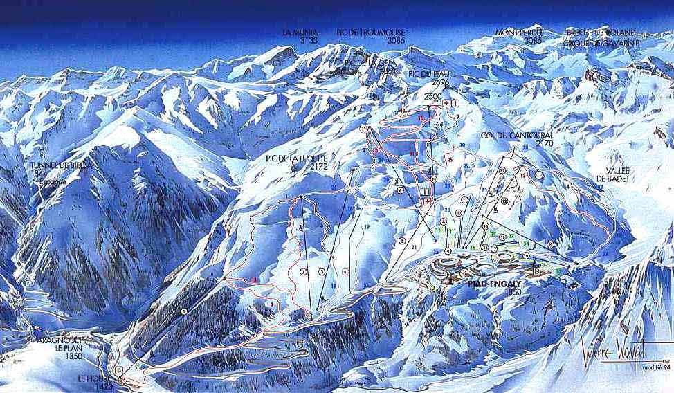 Piau Engaly piste map