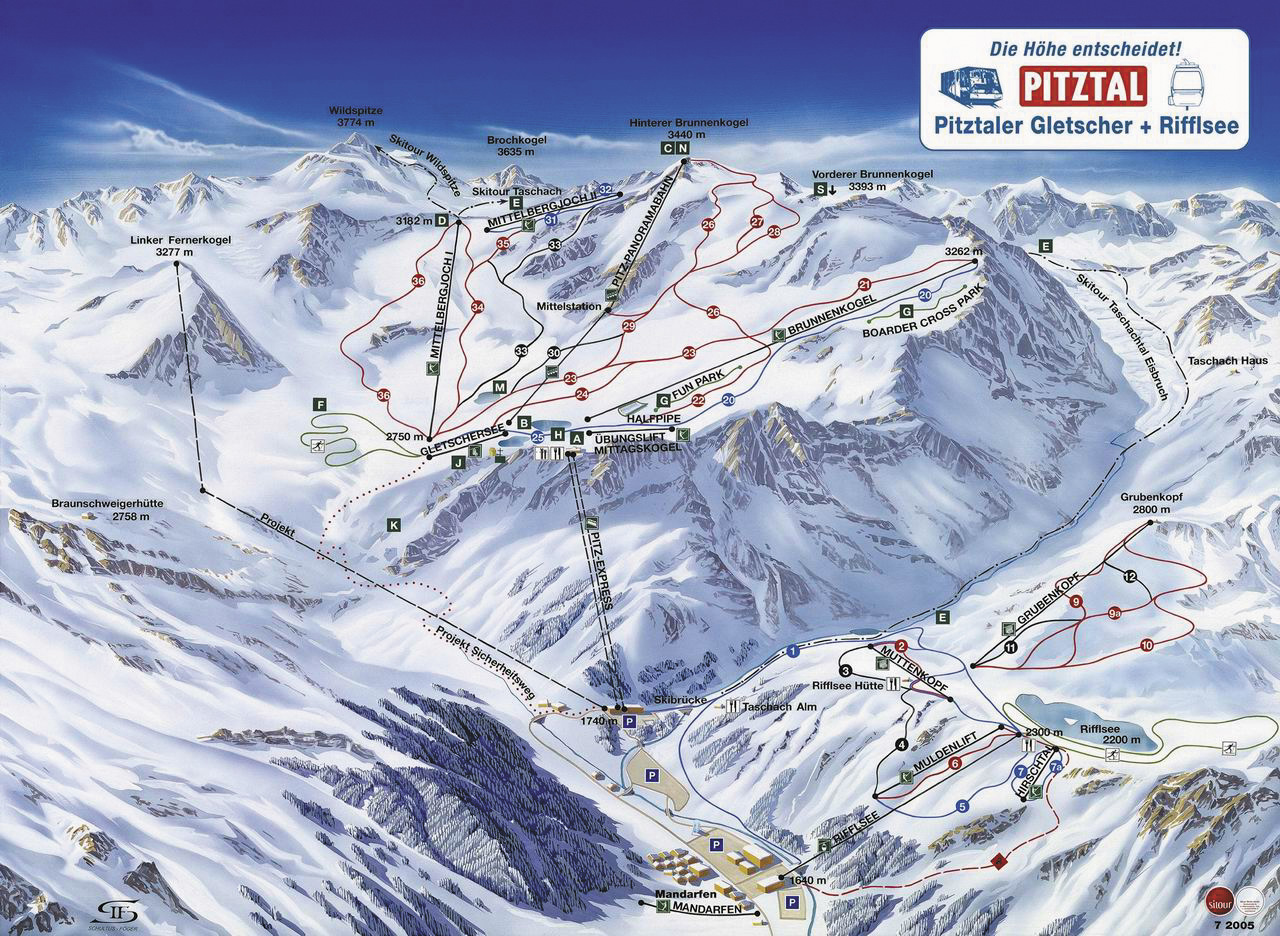 Rifflsee piste map