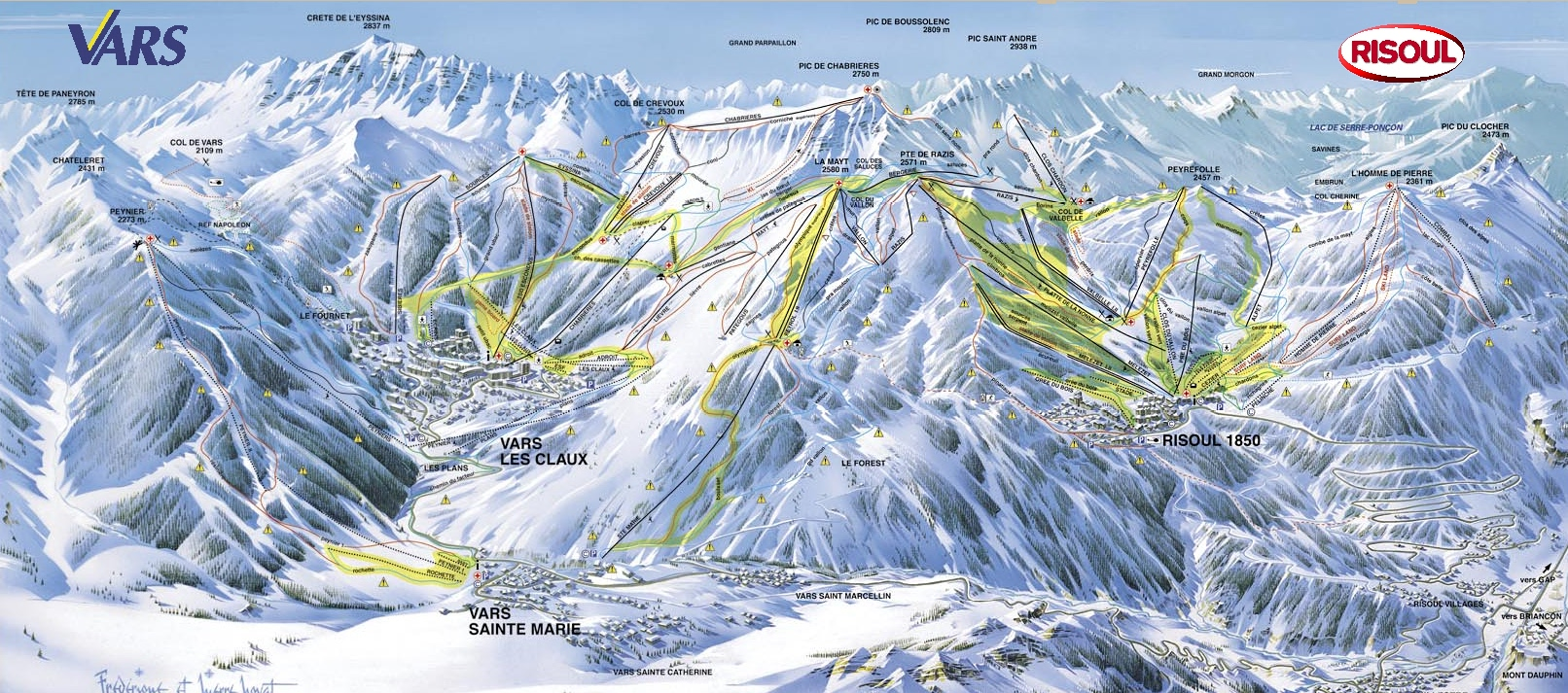 piste map Risoul