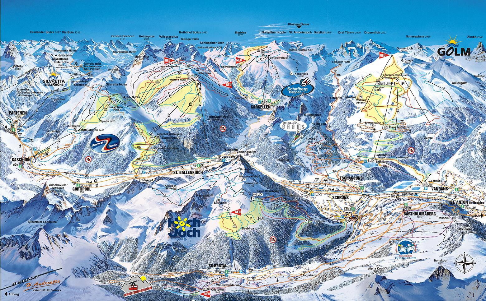 Schruns piste map