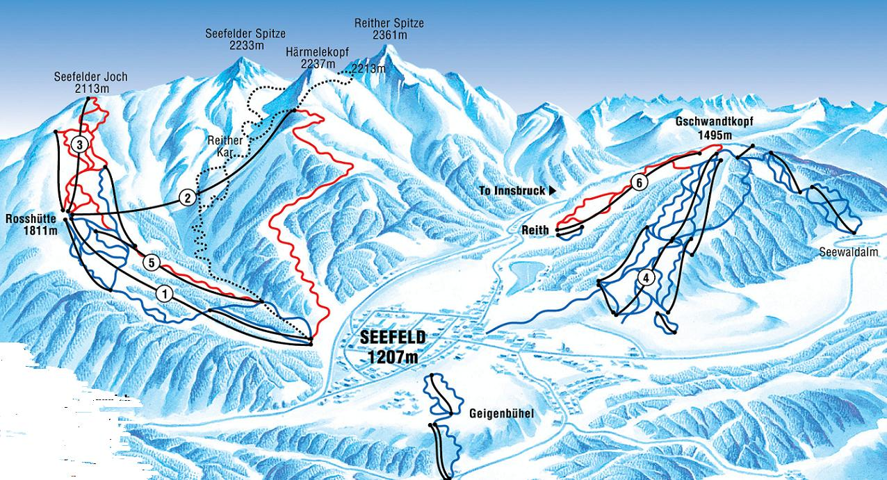 piste map Seefeld