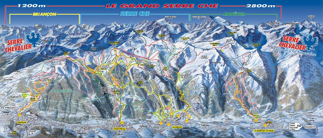 piste map Serre Chevalier