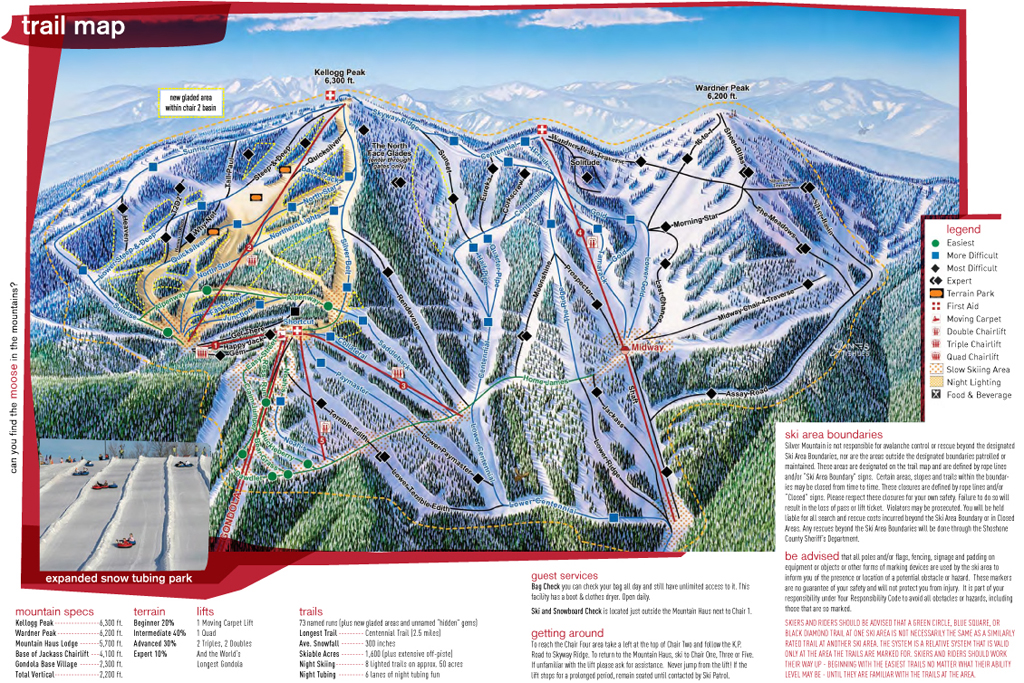 Silver Mountain piste map
