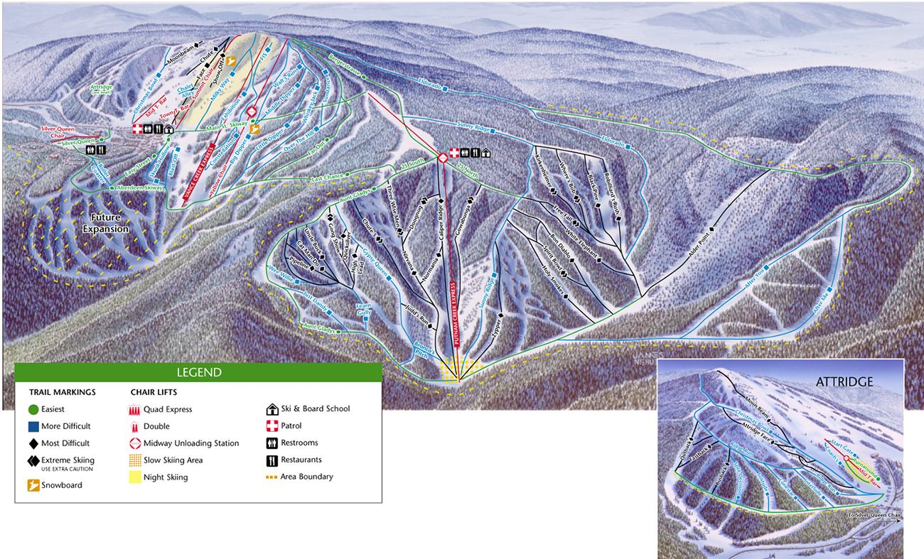 Silver Star Mountain piste map