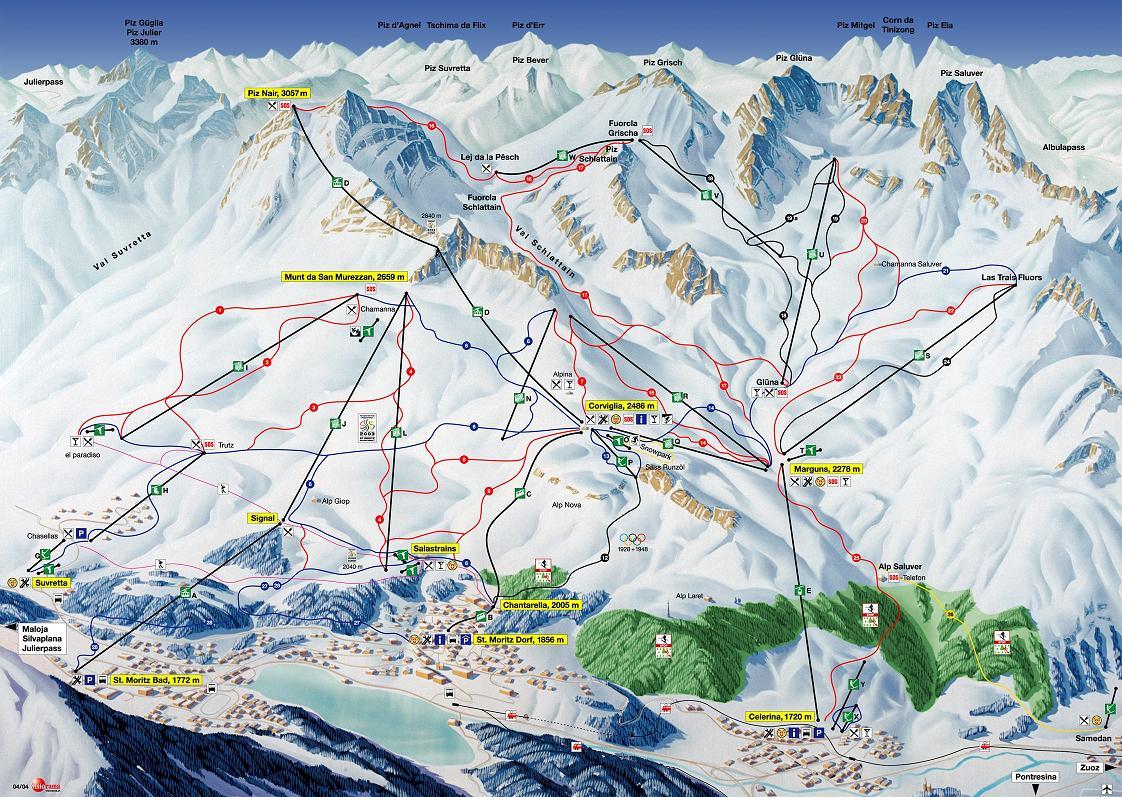 piste map St. Moritz