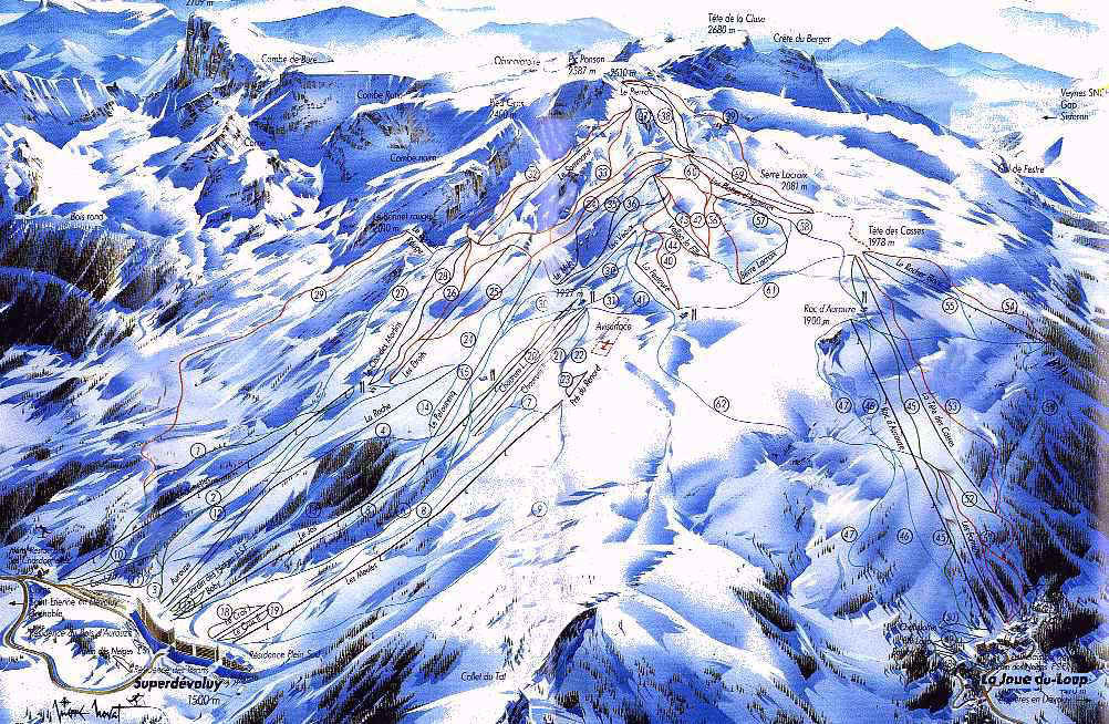 Superdevoluy piste map