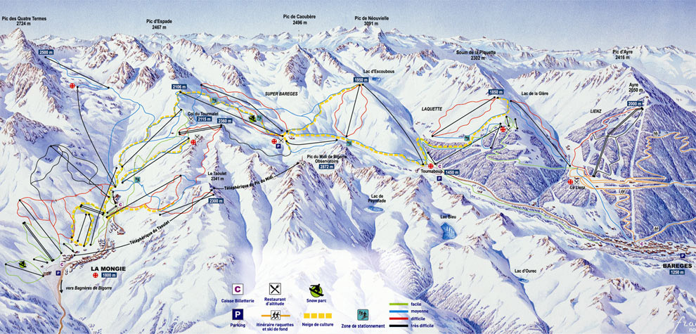 Superbagneres piste map