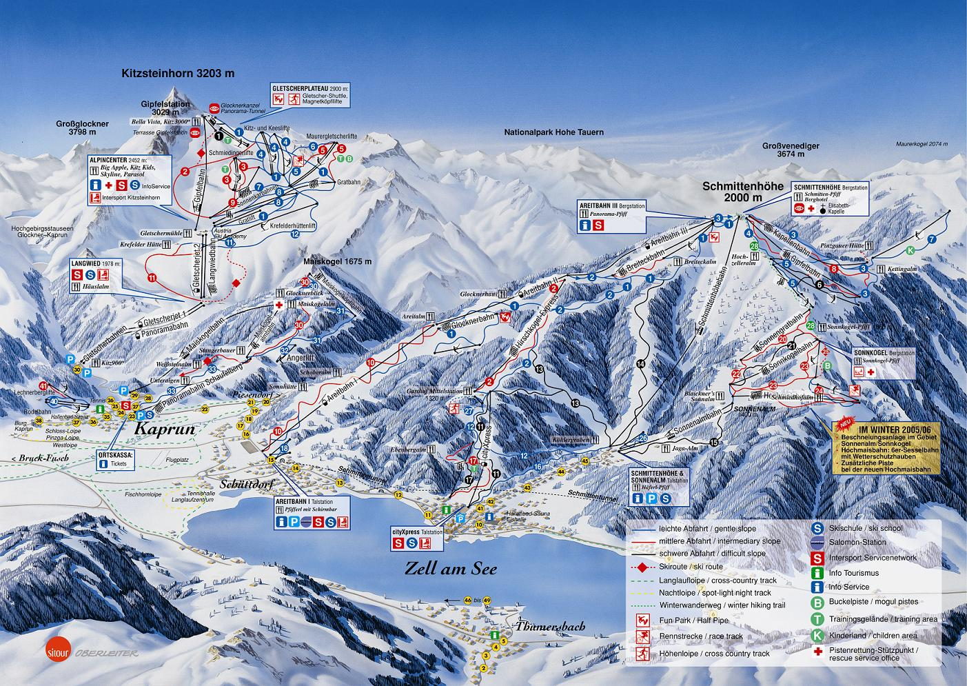 piste map Zell Am See
