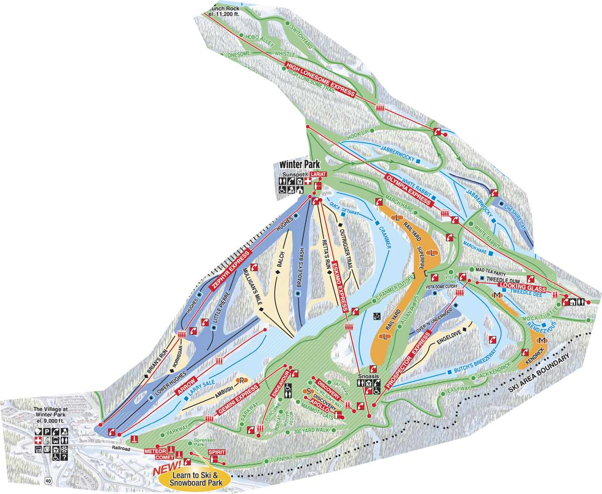 piste map Winter Park