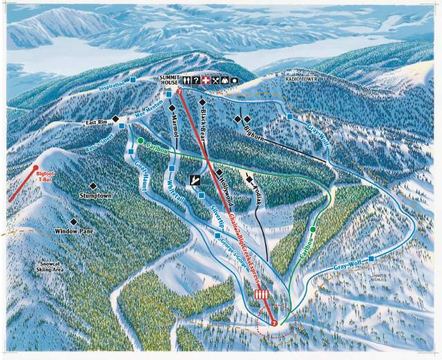 Whitefish Mountain piste map