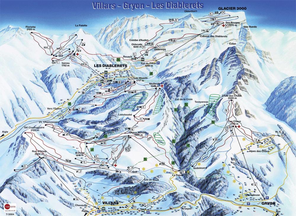 piste map Villars