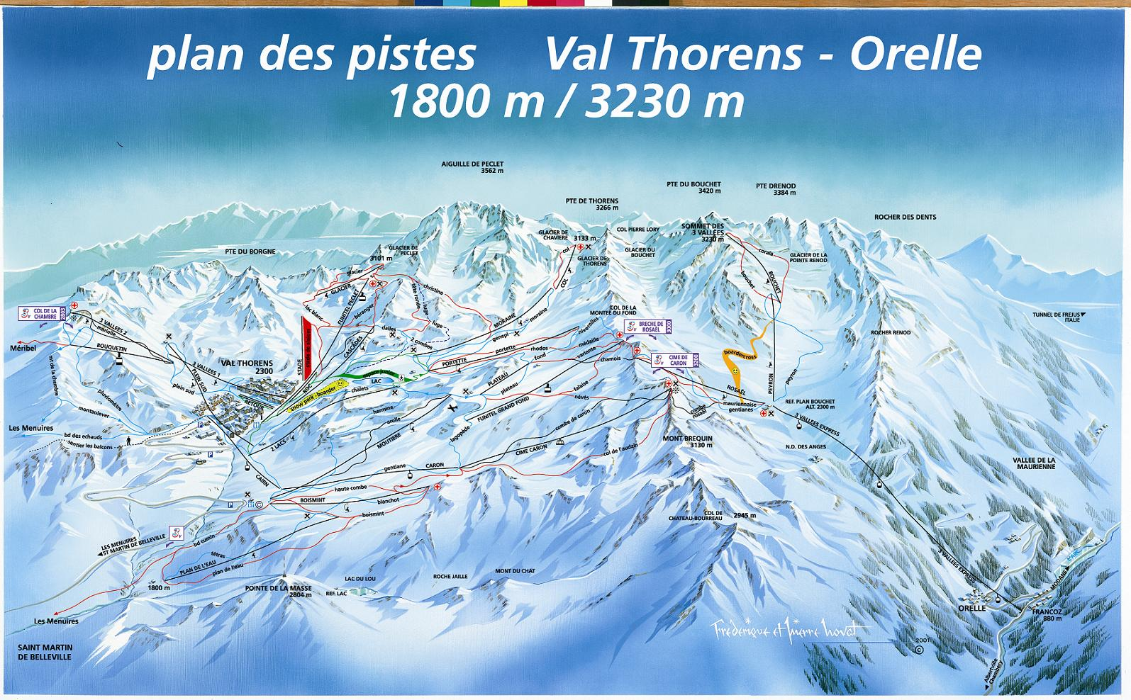 piste map Val Thorens