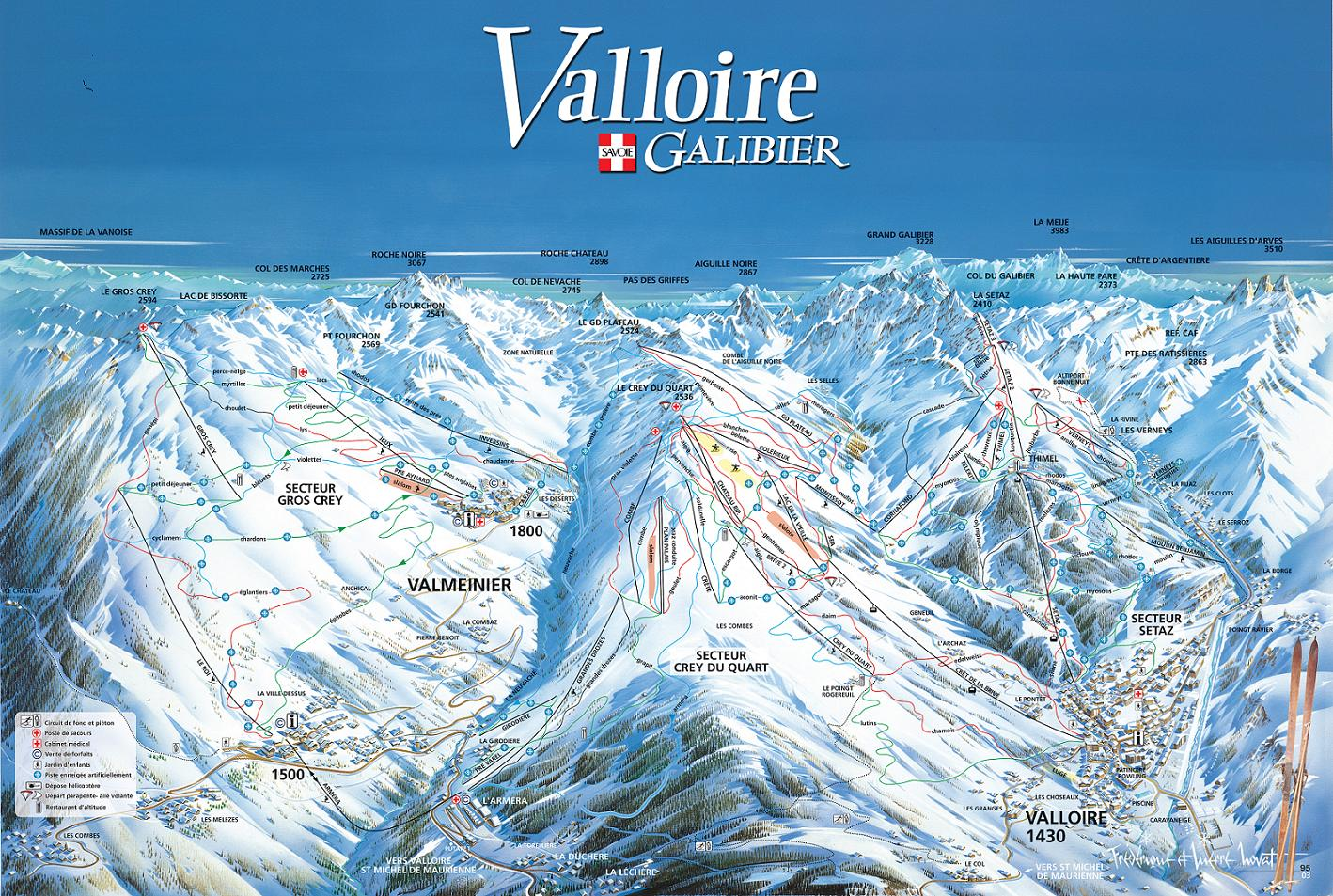 piste map Valloire