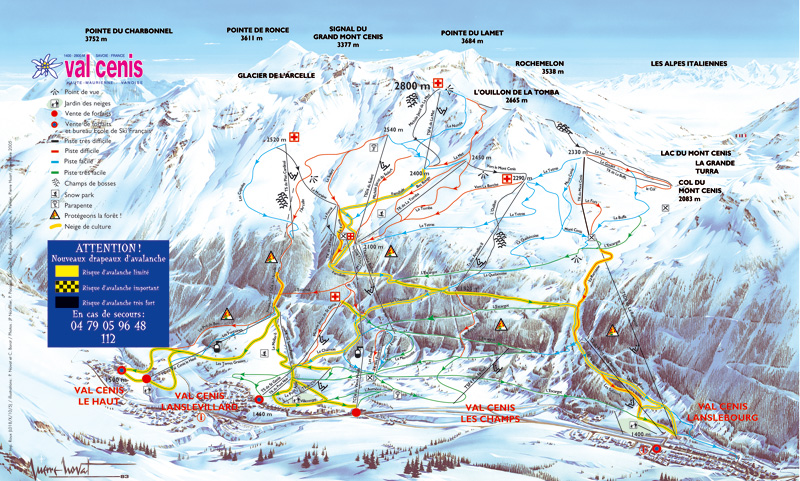 piste map Val Cenis