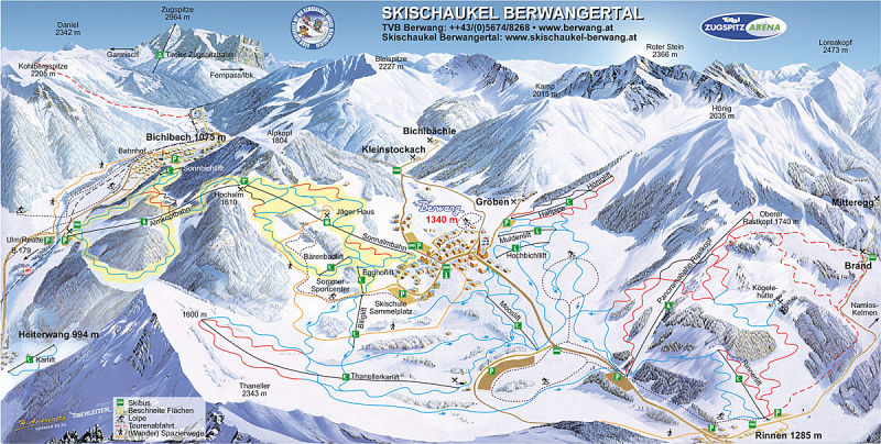 Berwang piste map