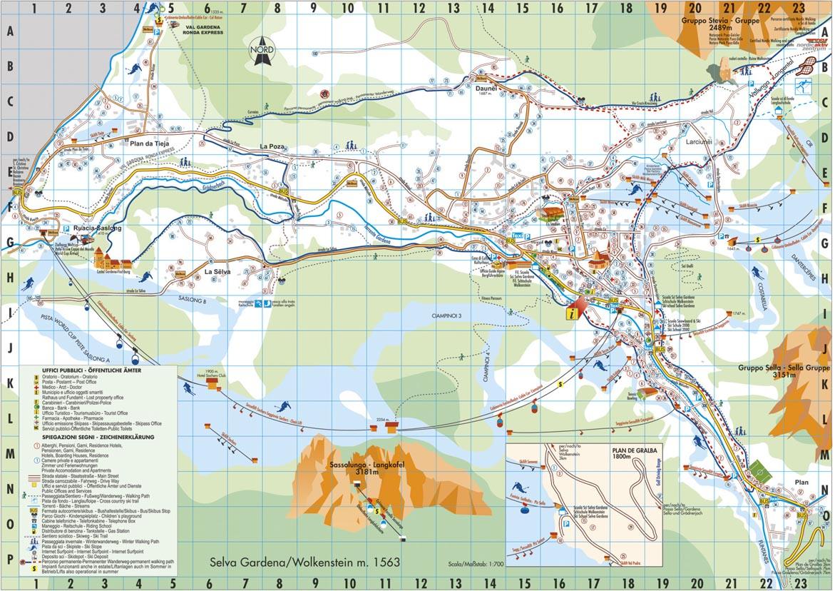 Maps Of Selva Ski Resort In Italy Sno